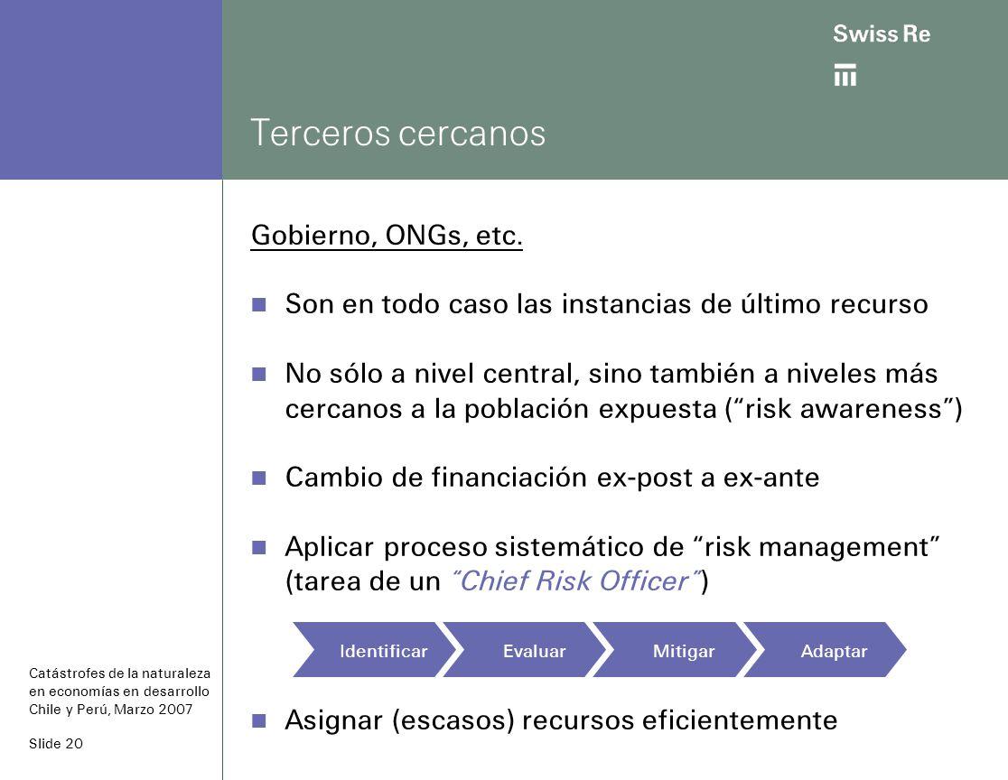 Slide 20 Terceros cercanos Gobierno, ONGs, etc.