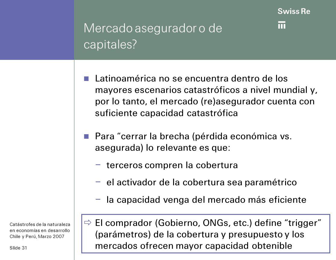 Slide 31 Mercado asegurador o de capitales.