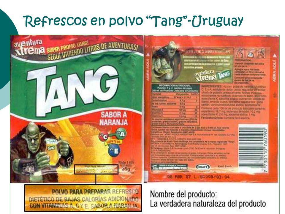 Refrescos en polvo Tang-Uruguay