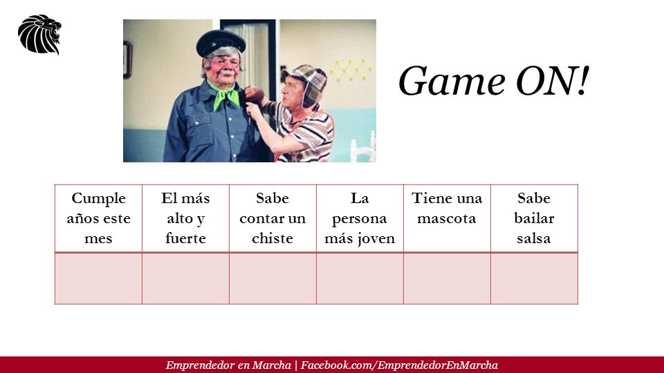 Emprendedor en Marcha | Facebook.com/EmprendedorEnMarcha Game ON.