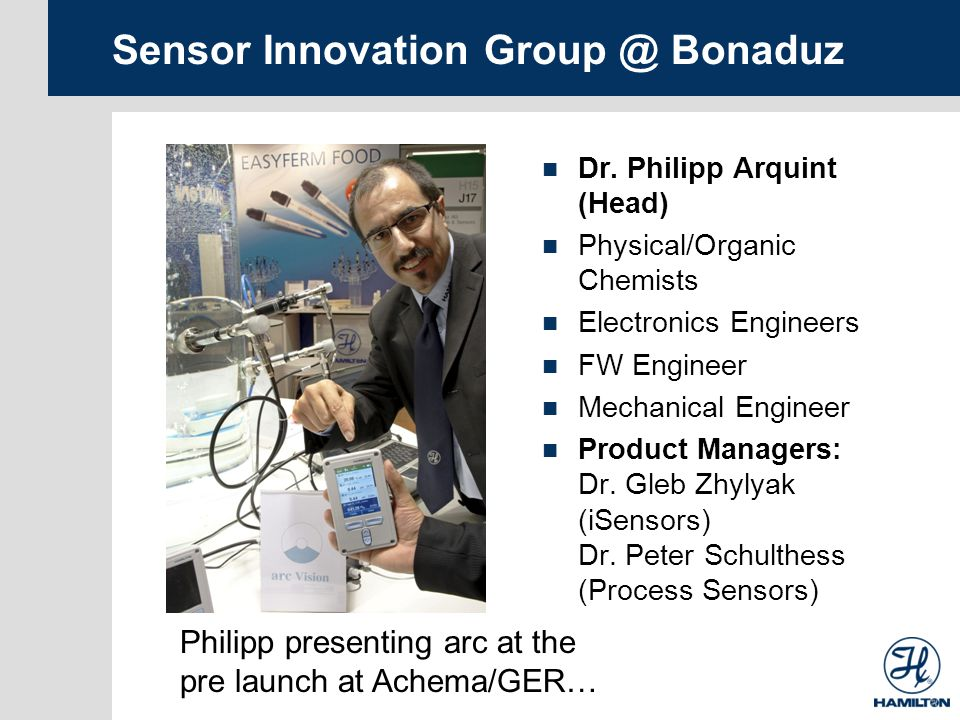 Sensor Innovation Group @ Bonaduz Dr.
