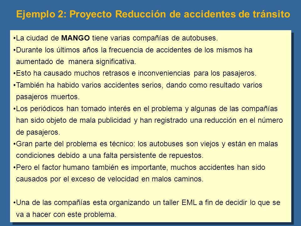 La ciudad de MANGO tiene varias compañías de autobuses. Durante los últimos años la frecuencia de accidentes de los mismos ha aumentado de manera sign