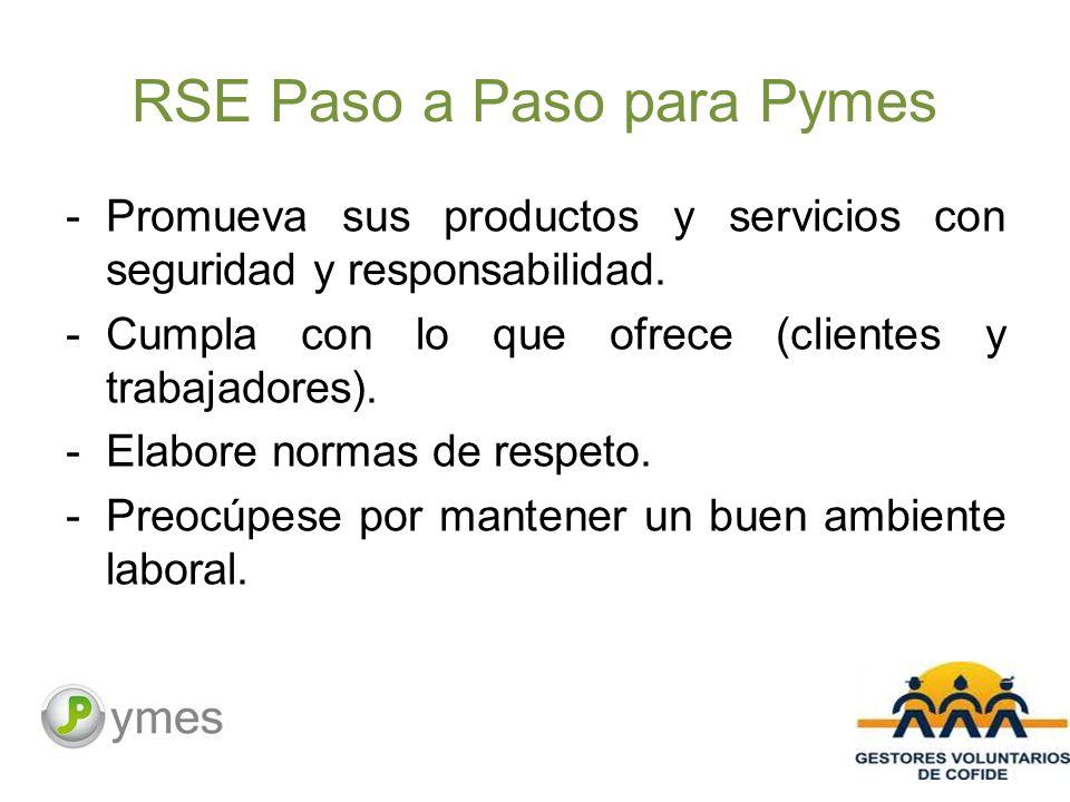 RSE Paso a Paso para Pymes -Promueva sus productos y servicios con seguridad y responsabilidad.