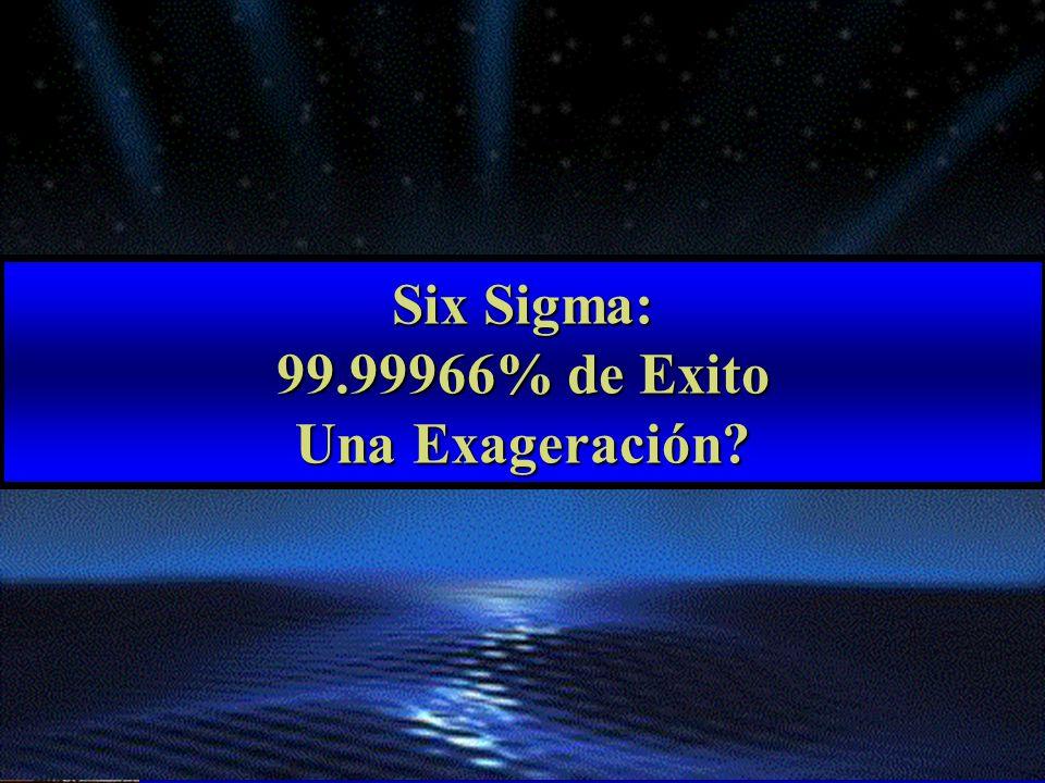 Six Sigma: 99.99966% de Exito Una Exageración?