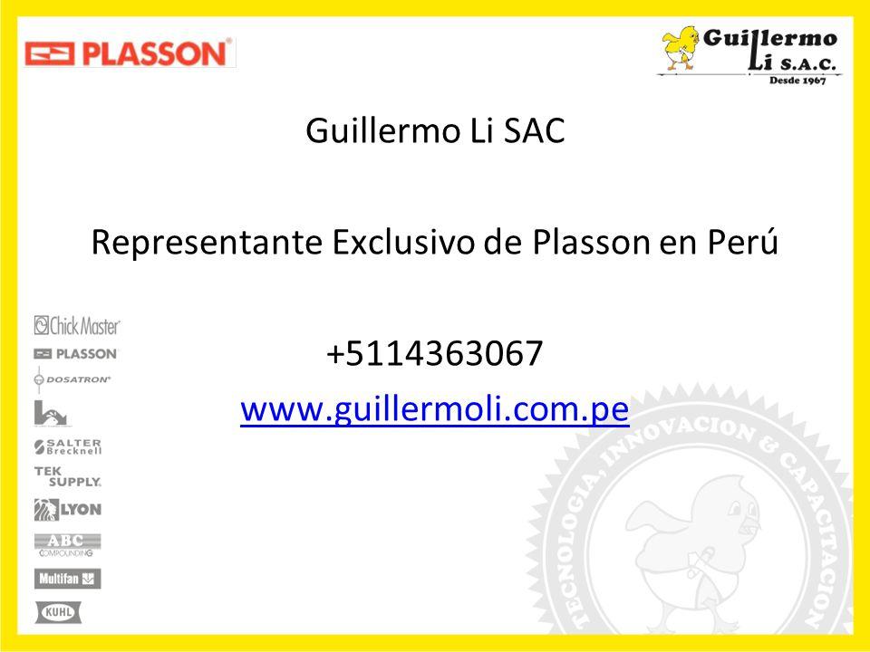 Guillermo Li SAC Representante Exclusivo de Plasson en Perú +5114363067 www.guillermoli.com.pe