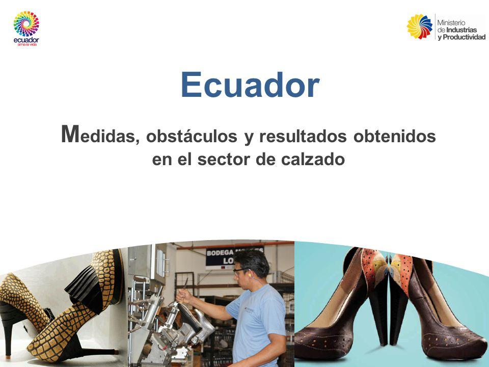 Ecuador M edidas, obstáculos y resultados obtenidos en el sector de calzado