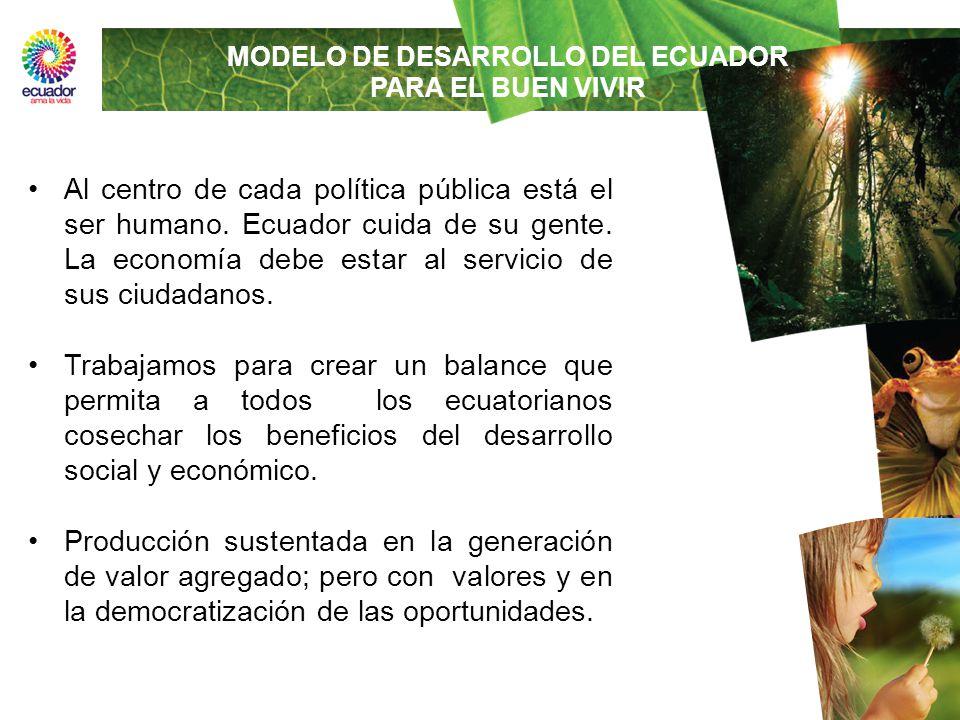 Al centro de cada política pública está el ser humano. Ecuador cuida de su gente. La economía debe estar al servicio de sus ciudadanos. Trabajamos par