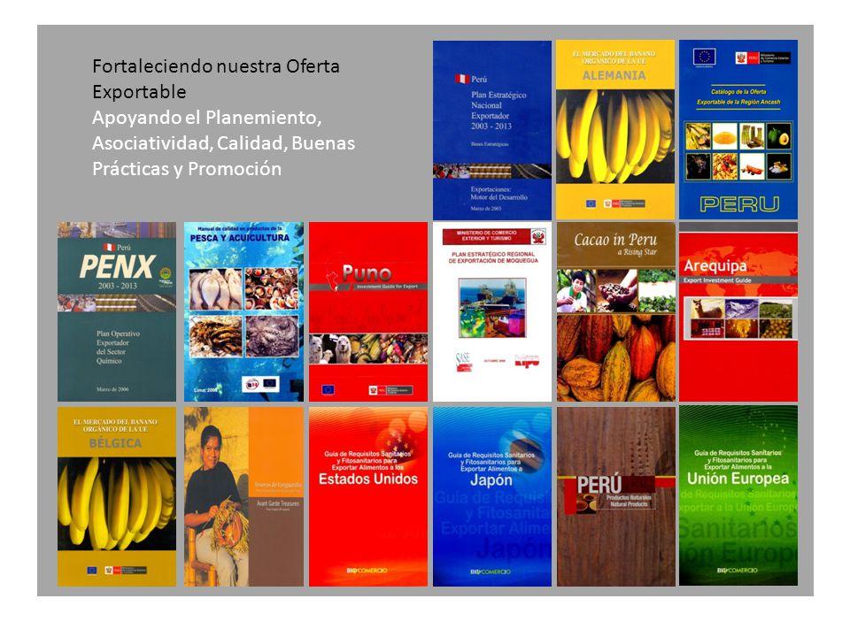 Fortaleciendo nuestra Oferta Exportable Apoyando el Planemiento, Asociatividad, Calidad, Buenas Prácticas y Promoción
