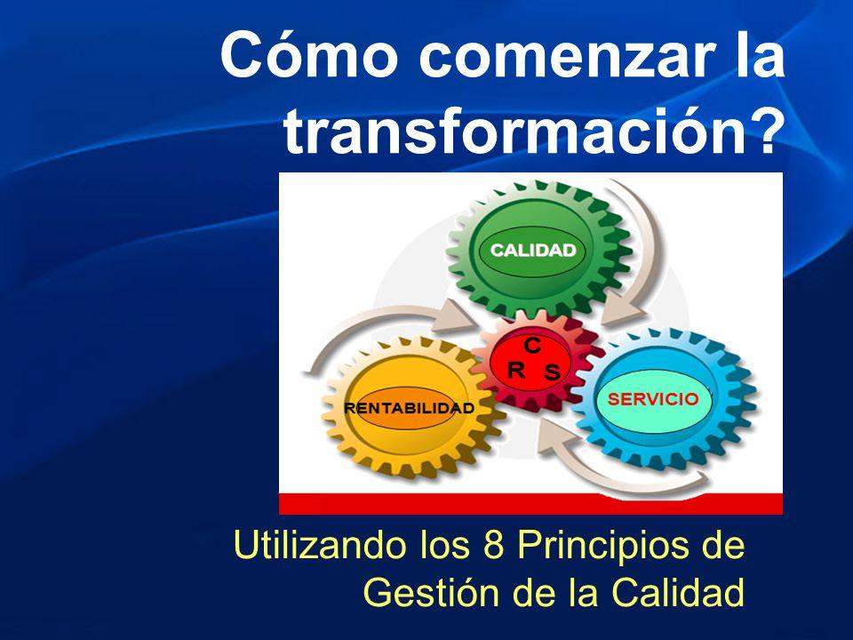 Cómo comenzar la transformación? Utilizando los 8 Principios de Gestión de la Calidad