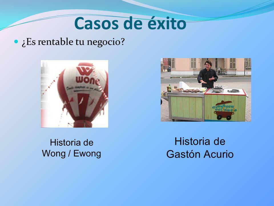 Historia de Wong / Ewong Casos de éxito ¿Es rentable tu negocio? Historia de Gastón Acurio