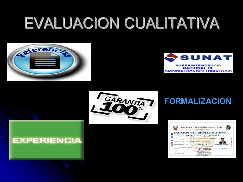 EVALUACION CUALITATIVA FORMALIZACION