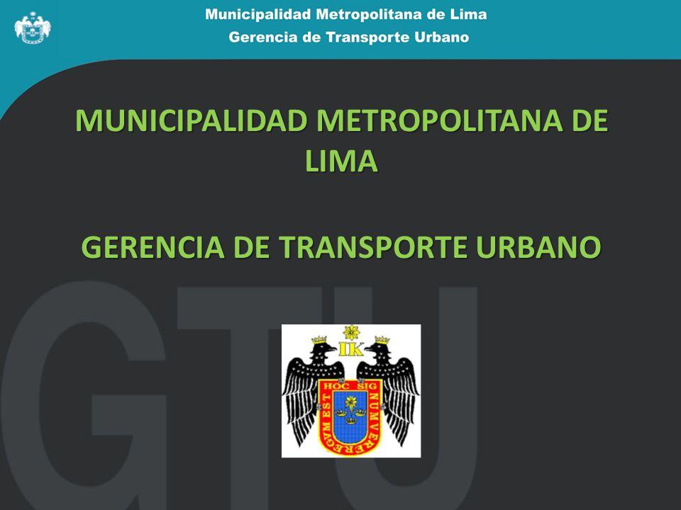 h) Fiscalización La GTU es la autoridad competente para fiscalizar el servicio.