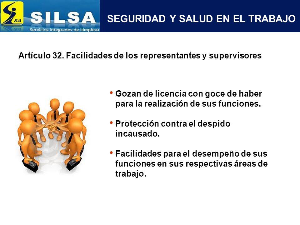 SEGURIDAD Y SALUD EN EL TRABAJO Artículo 35.