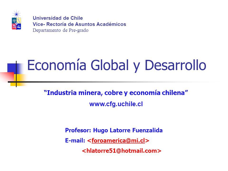 Economía Global y Desarrollo Profesor: Hugo Latorre Fuenzalida E-mail: foroamerica@mi.cl Universidad de Chile Vice- Rectoría de Asuntos Académicos Dep