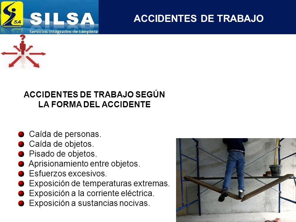 ACCIDENTES DE TRABAJO SEGÚN EL AGENTE MATERIAL Maquinas.
