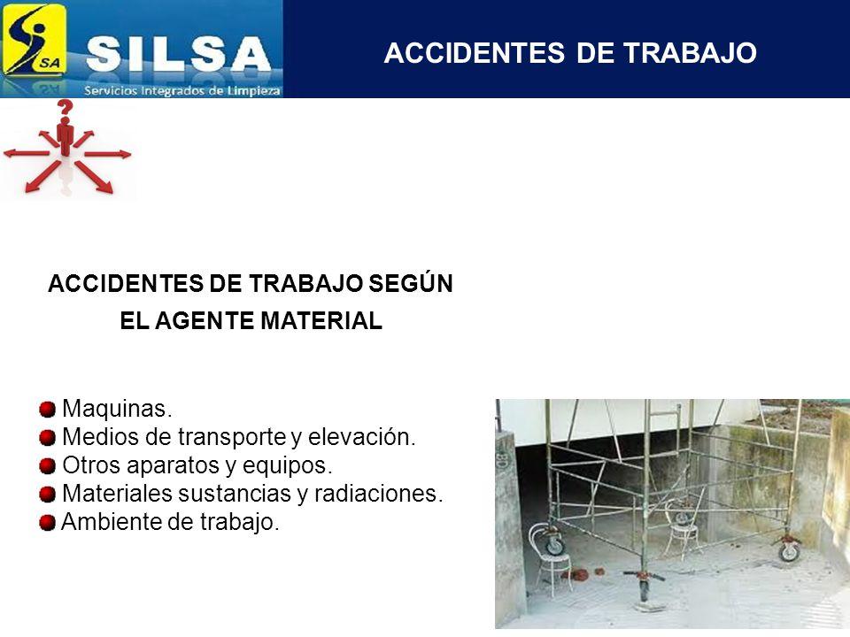 ACCIDENTES DE TRABAJO SEGÚN LA UBICACION DE LA LESION Maquinas.
