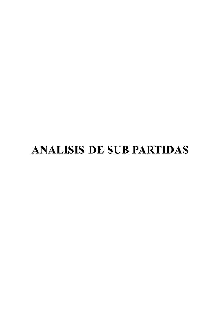 ANALISIS DE SUB PARTIDAS