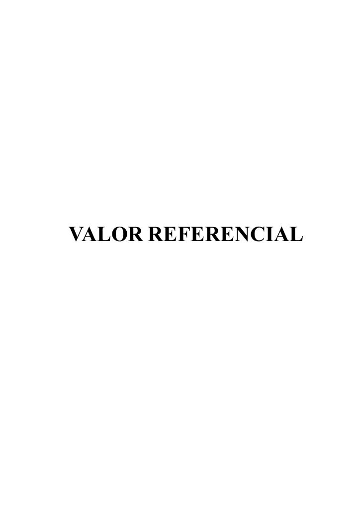 VALOR REFERENCIAL
