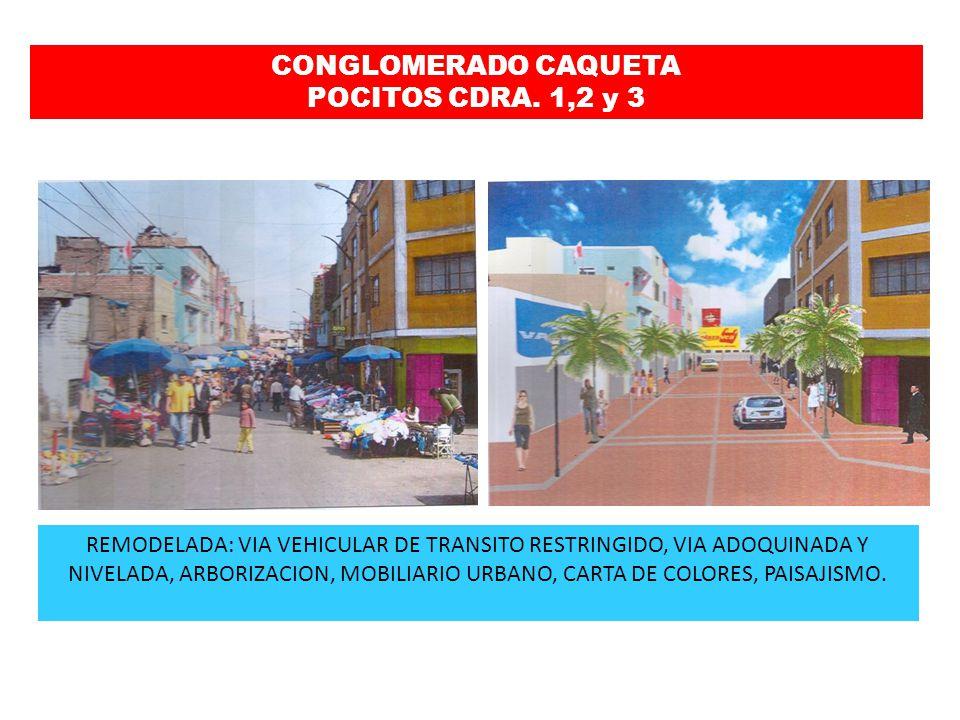 REMODELADA: TRANSITO ORDENADO, VIA ADOQUINADA Y NIVELADA, BERMA CENTRAL, ARBORIZACION, MOBILIARIO URBANO, CARTA DE COLORES, PAISAJISMO Y AREAS RIGIDAS POR HORAS CONGLOMERADO CAQUETA MARTIR OLAYA CDRA.