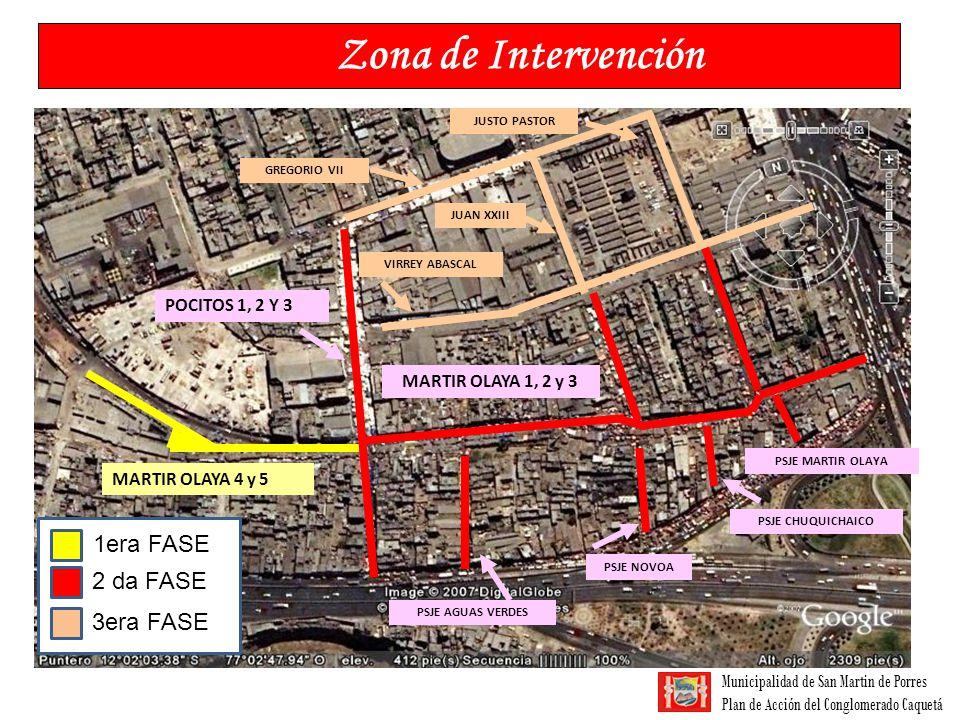 Municipalidad de San Martin de Porres Plan de Acción del Conglomerado Caquetá Zona de Intervención MARTIR OLAYA 4 y 5 POCITOS 1, 2 Y 3 MARTIR OLAYA 1,