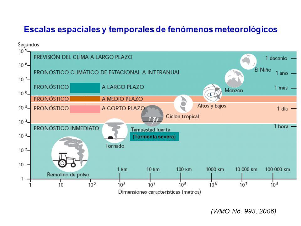 Escalas espaciales y temporales de fenómenos meteorológicos (WMO No. 993, 2006) (Tormenta severa)