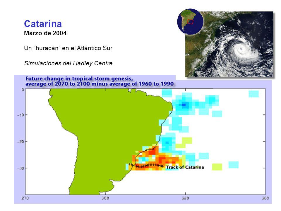 Catarina Marzo de 2004 Un huracán en el Atlántico Sur Simulaciones del Hadley Centre