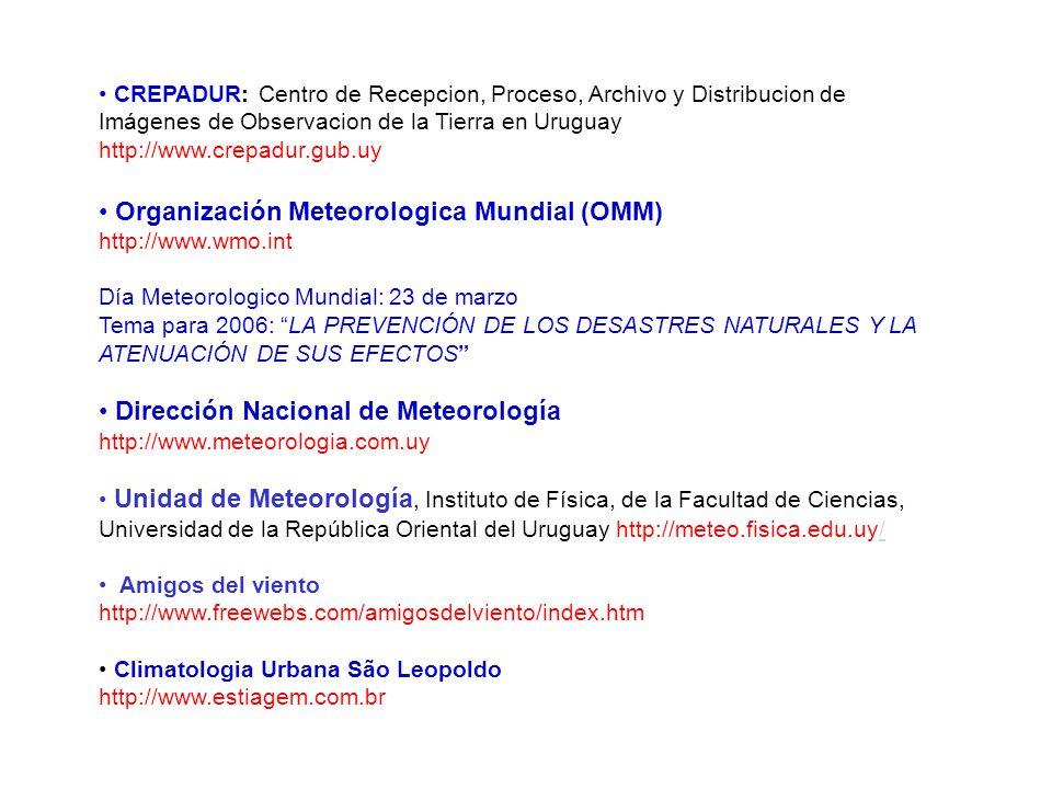 CREPADUR: Centro de Recepcion, Proceso, Archivo y Distribucion de Imágenes de Observacion de la Tierra en Uruguay http://www.crepadur.gub.uy Organizac