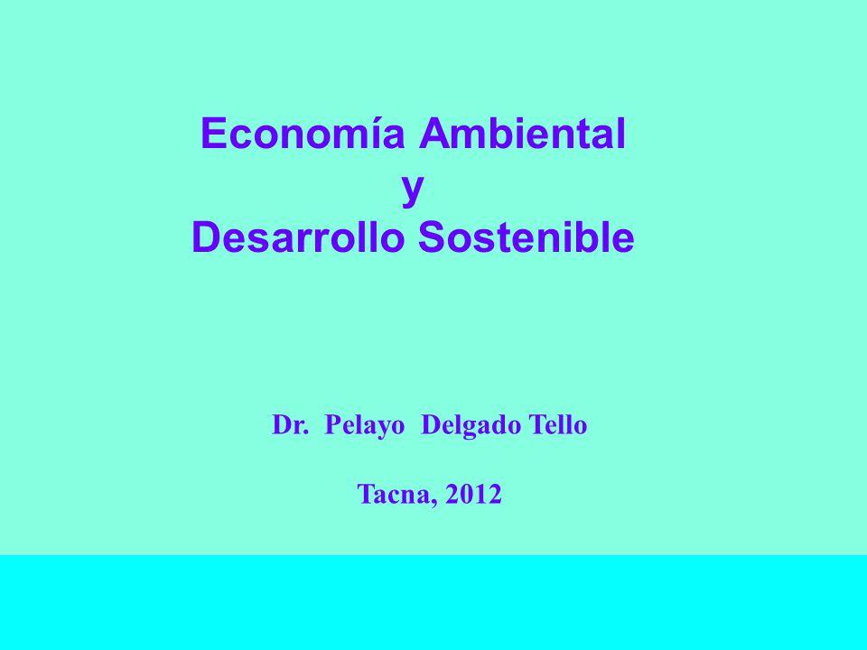 Economía Ambiental y Desarrollo Sostenible Dr. Pelayo Delgado Tello Tacna, 2012