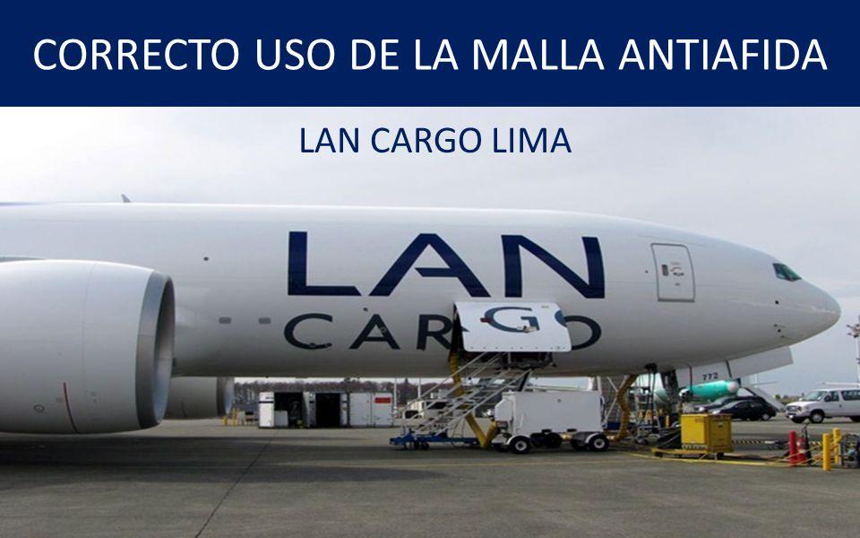 CORRECTO USO DE LA MALLA ANTIAFIDA LAN CARGO LIMA