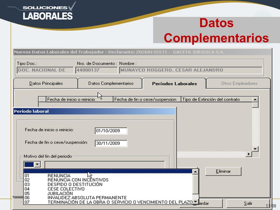 Datos Complementarios 11/68