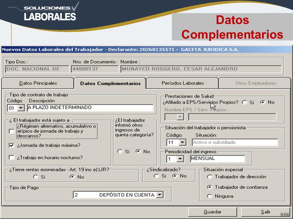 Datos Complementarios 9/68
