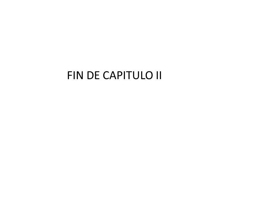 FIN DE CAPITULO II