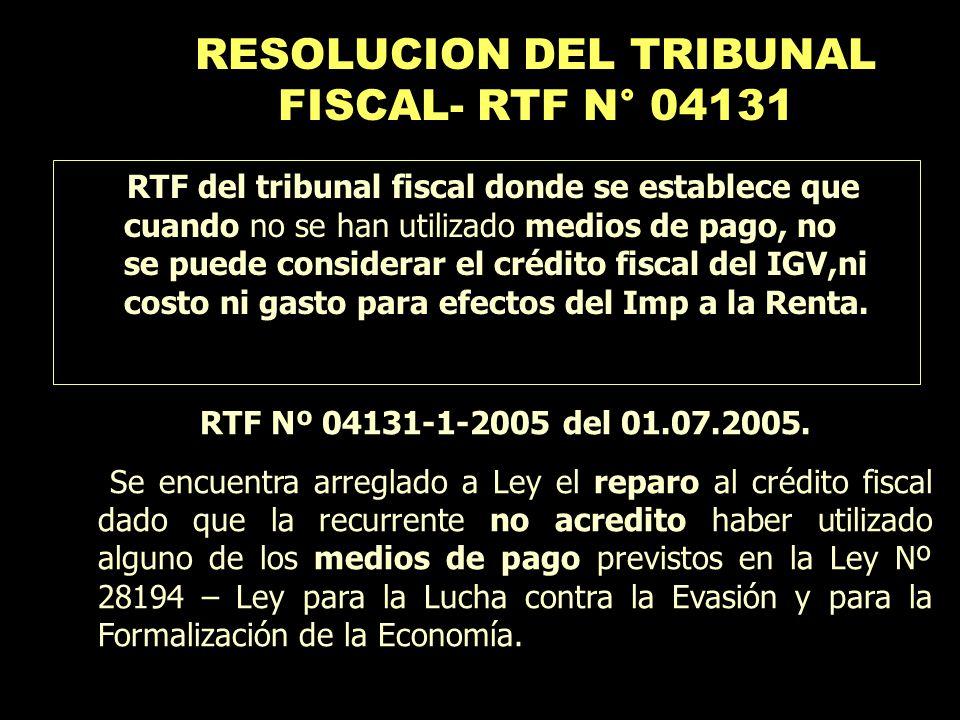 RTF Nº 04131-1-2005 del 01.07.2005. Se encuentra arreglado a Ley el reparo al crédito fiscal dado que la recurrente no acredito haber utilizado alguno