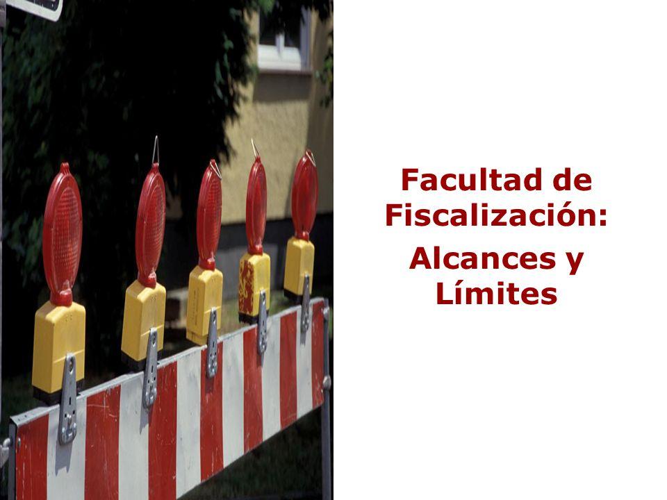 Facultad de Fiscalización: Alcances y Límites