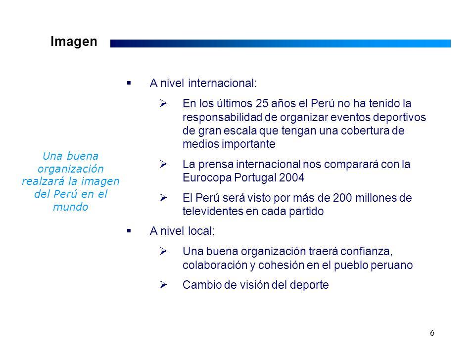 17 Anexo 2 El Gobierno Peruano tiene la oportunidad llegar a 5,200 millones de televidentes a nivel mundial con una inversión de tan sólo USD 4.21 millones 200 millones de televidentes por partido, 26 partidos Un impacto similar en: Televisión local requeriría de aprox.