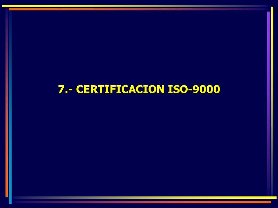 7.- CERTIFICACION ISO-9000