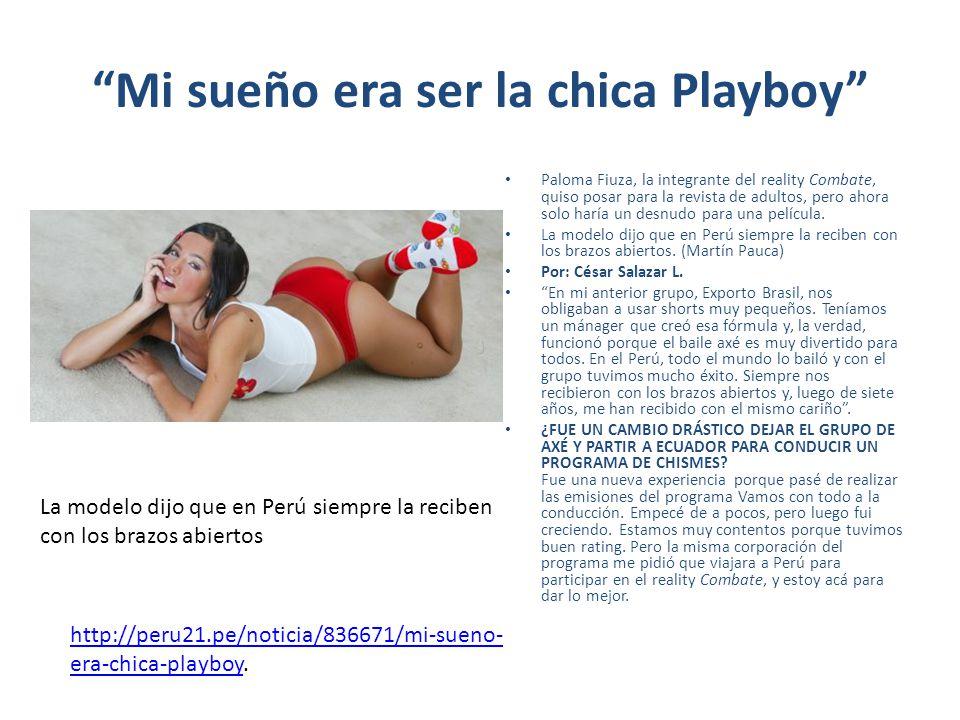 Mi sueño era ser la chica Playboy Paloma Fiuza, la integrante del reality Combate, quiso posar para la revista de adultos, pero ahora solo haría un de