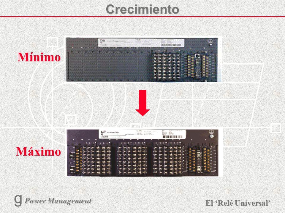 X R Ø X R El Relé Universal Power Management g Power Management 9 Comunicación Entre-Modulos Bus de Datos de Alta Velocidad Bus de Datos Serial Entre-
