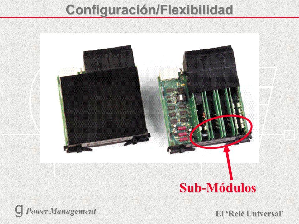 X R Ø X R El Relé Universal Power Management g Power Management 11 Capacidad de la Caja Entradas de CT/VT (I & V) hasta 3 módulos Estado (Binario) de