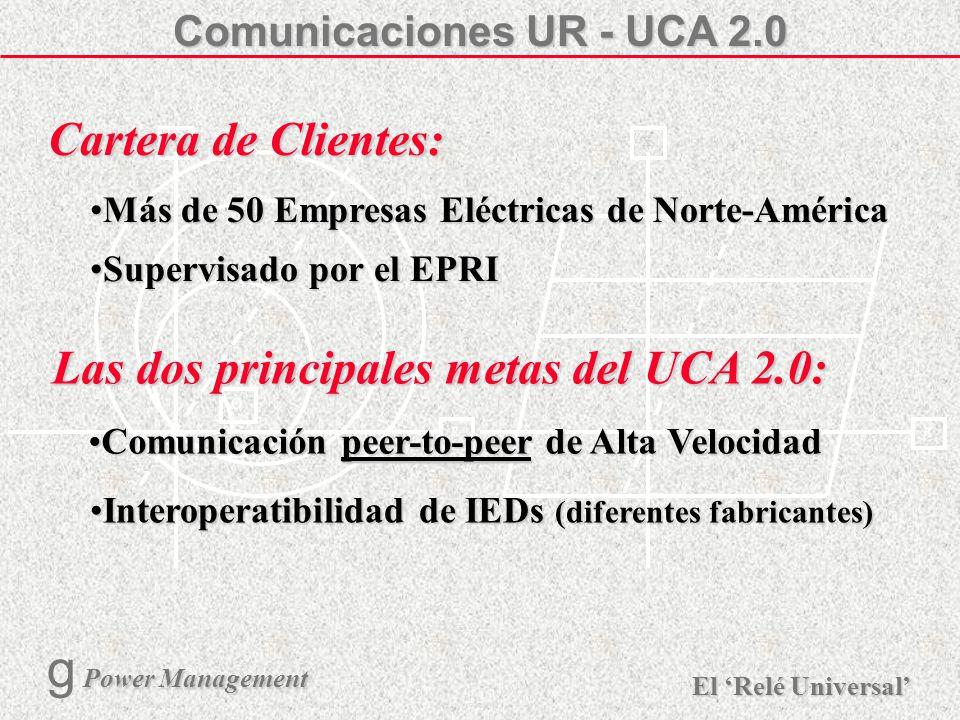 X R Ø X R El Relé Universal Power Management g Power Management 22 URPC - Diagrama Unifilar Creación personalizada del unifilar en pantalla Medición c