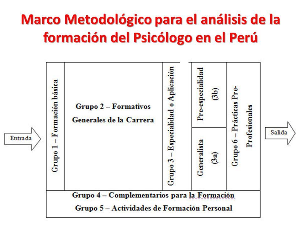 Marco Metodológico para el análisis de la formación del Psicólogo en el Perú