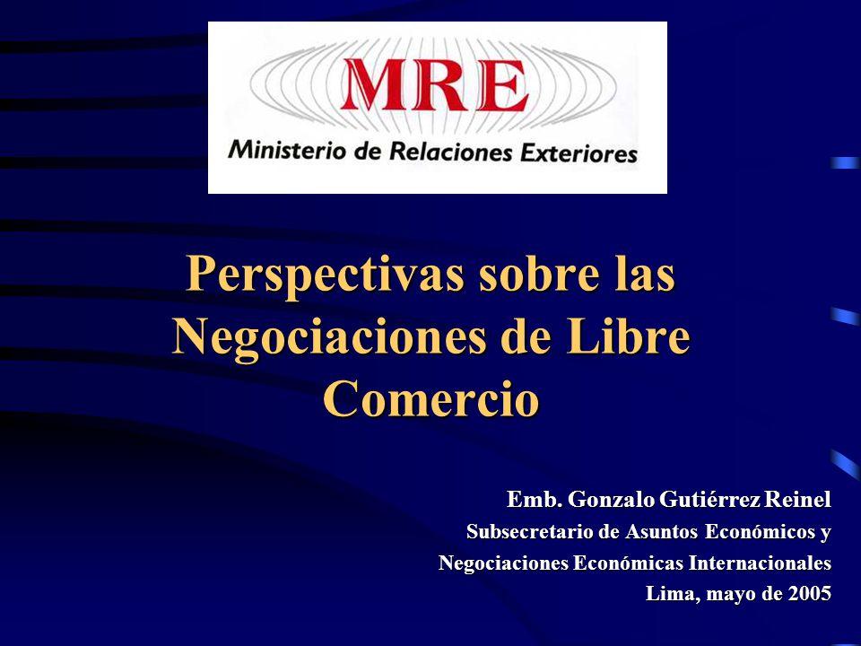 Perspectivas sobre las Negociaciones de Libre Comercio Emb.