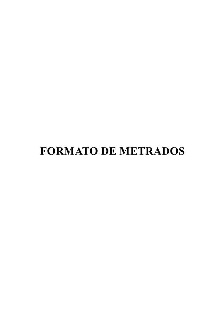 FORMATO DE METRADOS