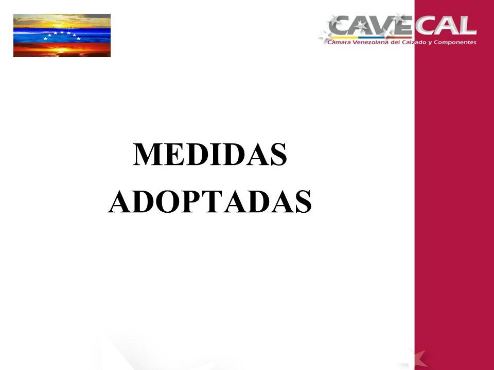 PUBLICACIÓN DE LA MEDIDA ANTIDUMPING EN GACETA OFICIAL 26 DE MAYO DE 2000: SE PUBLICA EN GACETA OFICIAL DE LA REPÚBLICA BOLIVARIANA DE VENEZUELA LA MEDIDA E IMPOSICIÓN DE LOS DERECHOS ANTIDUMPING DEFINITIVO A LAS IMPORTACIONES DE CALZADOS, ORIGINARIAS DE LA REPÚBLICA POPULAR DE CHINA.