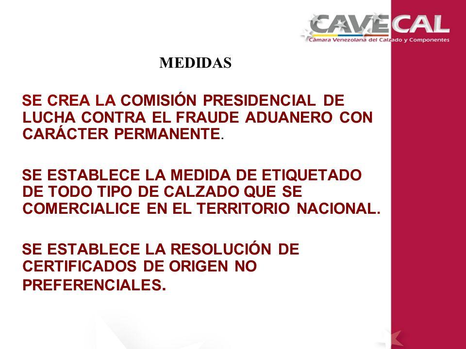 MEDIDAS SE CREA LA COMISIÓN PRESIDENCIAL DE LUCHA CONTRA EL FRAUDE ADUANERO CON CARÁCTER PERMANENTE.