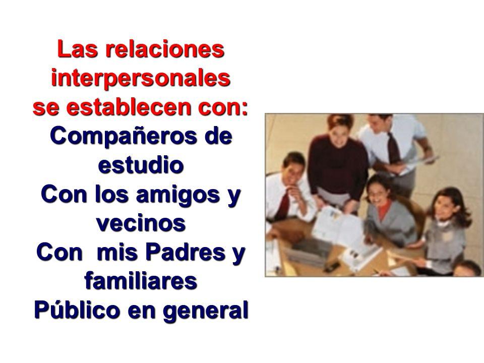 Así pues, podemos afirmar que la autoestima de un individuo define la calidad de las relaciones InterpersonalesInterpersonales (con otras personas) In
