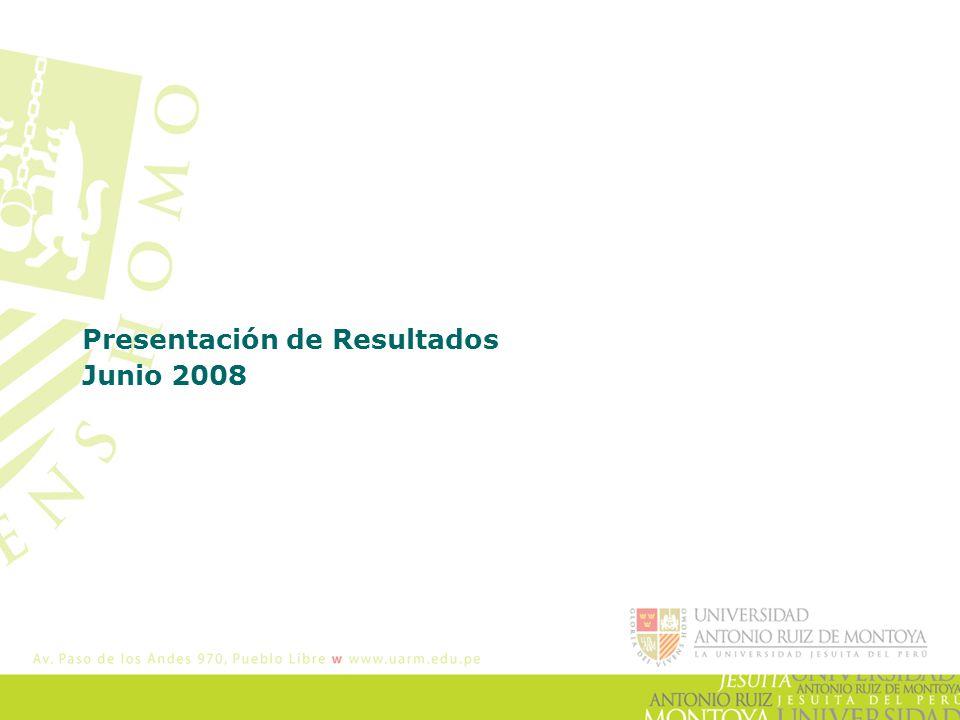 Presentación de Resultados Junio 2008