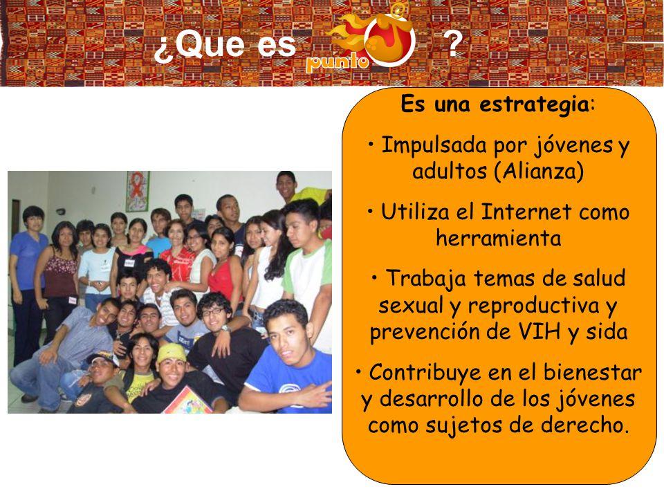 Punto J: Adolescentes, jóvenes y TICs en respuesta a la epidemia del VIH/sida en Latinoamérica y el Caribe.