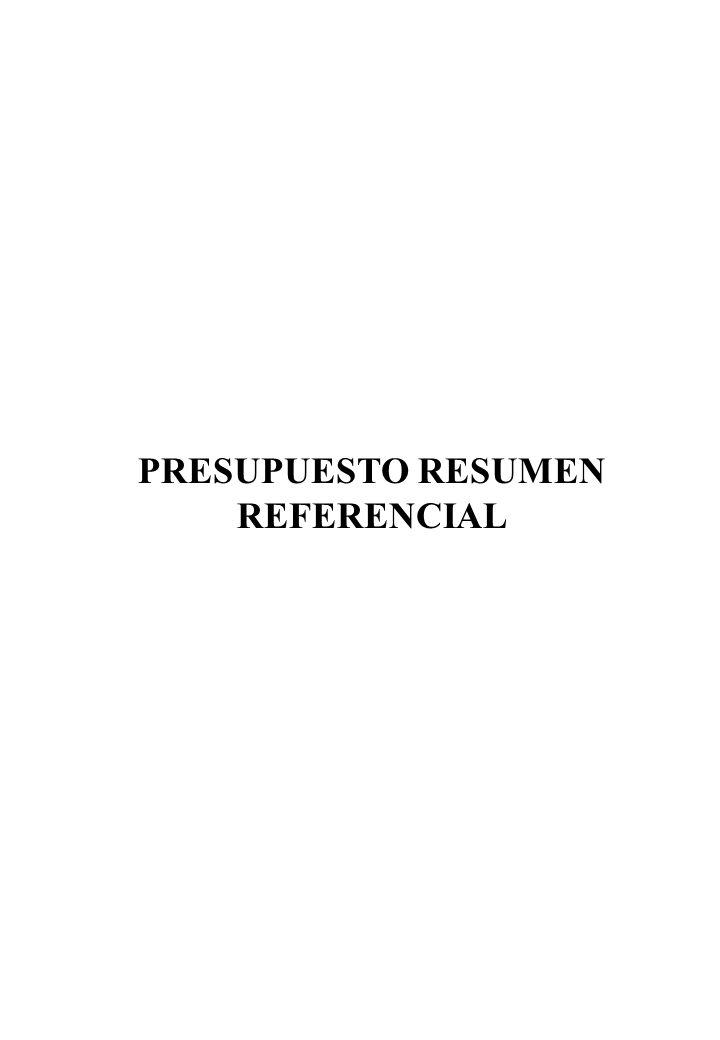 PRESUPUESTO RESUMEN REFERENCIAL