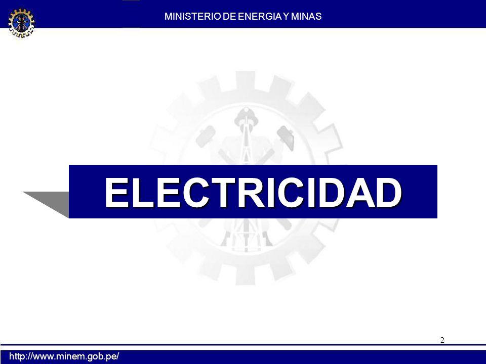 2 ELECTRICIDAD MINISTERIO DE ENERGIA Y MINAS http://www.minem.gob.pe/